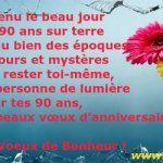 Texte Bon anniversaire 90 ans Messages de voeux de Bonne Fête