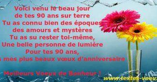 Citation 90 ans Bon Anniversaire
