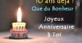 Carte Joyeux anniversaire 10 ans fille ou garçon originale