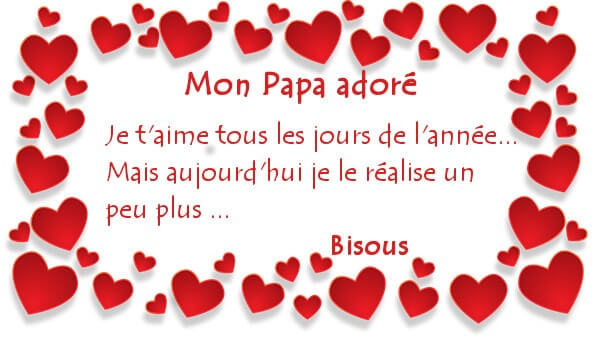 Carte de souhaits bonne fête papa d'amour