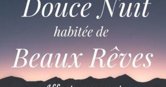 Dire bonne nuit avec tendresse et une belle carte de souhaits