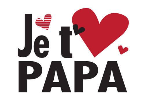 Dire je t'aime à son père avec une belle carte avec un coeur