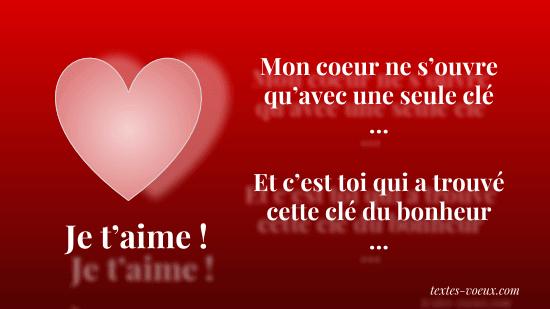 4aa210b8991 Mots d amour à envoyer pour dire Je t aime Joyeuse Saint Valentin
