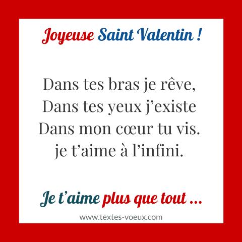 Saint Valentin Sms Romantique Et Phrase Damour Pour La St