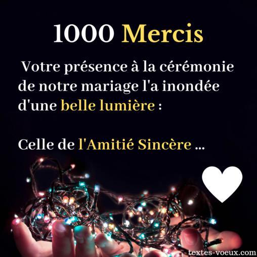 Message Remerciements Mariée Et Marié Texte Mariage Merci