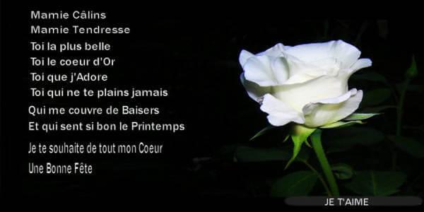 Poème Bonne Fête Mamie Vœux Pour La Fête Des Grands Mères