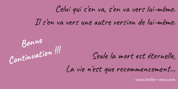 Vœux De Bonne Continuation Texte Pour Dire Au Revoir