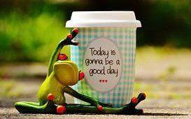 Souhaiter une bonne journée avec une belle image