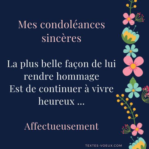 message de condoléances pour une amie qui a perdu sa mère
