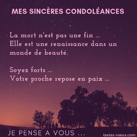 Message de soutien à une personne en deuil