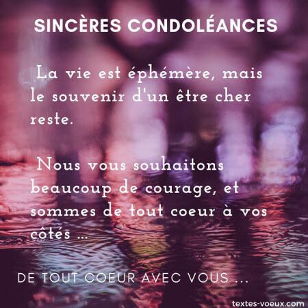Présenter ses condoléances à un ami en deuil