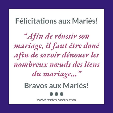Messages Félicitations Mariage Humoristique Textes Humour
