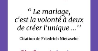 Faire-part mariage citation
