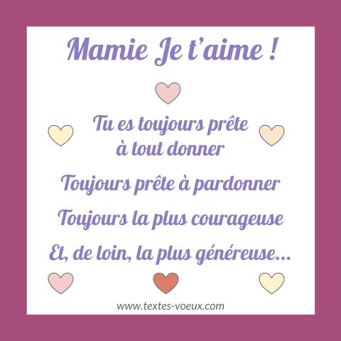 Beau Message Joyeux Anniversaire Mamie Lettre Pour Sa Grand Mère